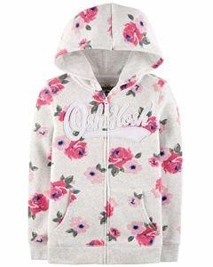 소녀의 4-8 긴 소매 로고 Hoodie 및 스웨터 Hoodie 스웨트 셔츠