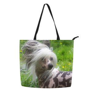 Квадратный Китайский Гребенчатый пырей собака печать журнала дамской сумочке женская сумка Магазинов