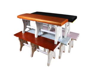 屋内プラスチック長い腰掛けの家具