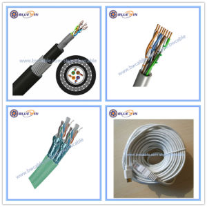 LAN de rede Cat3 Cat5 Cat5e CAT6 CAT6um cabo de rede Ethernet CAT7 UTP SFTP FTP 23AWG dados sobre os preços do cobre Outdoor patch cord 25 pares de fios trançados blindados RJ45