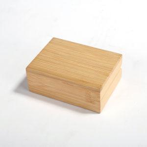 Bambú elegante joyero de madera sólida caja de Anillo Pendientes de verificación