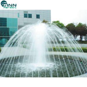Flor grande al aire libre forma redonda de Acero Inoxidable bailando Fuente de agua