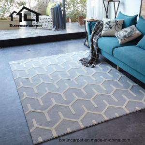 Tapis de plancher de couleur grise les carpettes de tapis de laine bambou de luxe