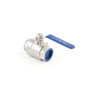 2PC Vanne à boisseau sphérique fileté en acier inoxydable avec certificat CE