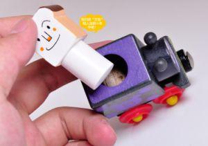 Design de originalidade crianças Dom Pão Magnético Superman brinquedos de madeira