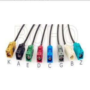 Ficha Fakra coaxial de RF em linha reta para veículo/Chicote do carro