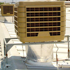 220V высокой производительности системы охлаждения охладителя при испарении промышленности с влажности на дисплее