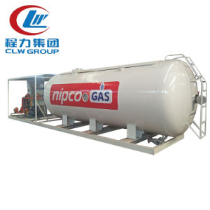 stazione di riempimento di pattino del serbatoio del gas di 50m3 GPL con la scala di riempimento