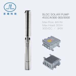 4CCD4/300-D300/3000 3KW 300m BLDC Cabeça da Bomba de Água Submersível Solar