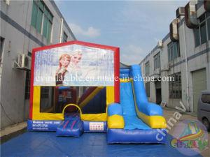 Princesa congelados de diapositivas inflables hinchables Combo/combinado de la casa