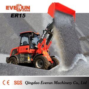 ER15 de multifunctionele Lader van het Wiel met 4in1 Emmer