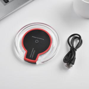 Logo personnalisé LED portable clair Chargeur de téléphone mobile sans fil pour Samsung S7 Edge Ypf80