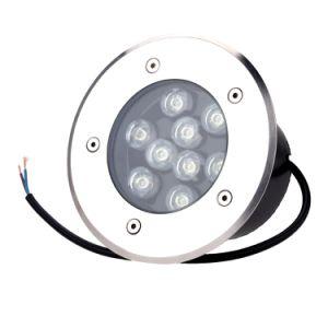 Edelstahl runden Einbau U-Bahn-LED Pave Licht Inground Lampe 9W Outdoor (warmes Weiß, kühles Weiß, Rot, Grün, Blau, Gelb, RGB-Farbe)