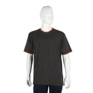 Custom de algodón orgánico de los hombres Camiseta Cuello redondo liso