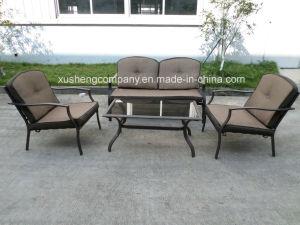 Patio exterior de acero de aluminio+ 4pcs muebles sofá