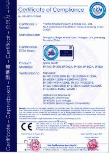 Эмпайр Стэйт Билдинг сертификат CE полного проекта автомобильной краской стенд