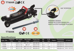3 tonnellate 70mm Ultra Low Profile Floor Jack