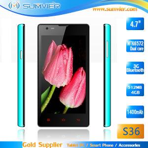 Núcleo Duad 4.7inch Mtk6572 3G telefone Sênior Android S36