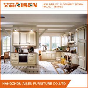 Armário de cozinha de membrana de PVC modular do fabricante profissional