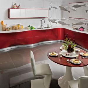 Oppein laca roja patentado el diseño del armario de cocina (OP12-L067)