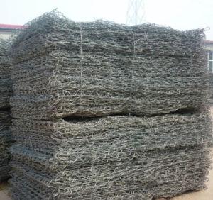 Caixa de gabião galvanizado médios quente /Gabião Hexagonal de rejeitos