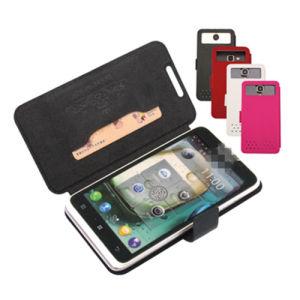 Universalkippen-Leder-Kasten mit Einbauschlitz für alle Arten Mibile Telefon