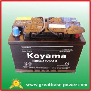 58034 Inicio automático de batería del coche 12V 80Ah batería DIN