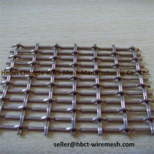 高炭素の振動スクリーンのための鋼鉄によってひだを付けられる正方形の金網