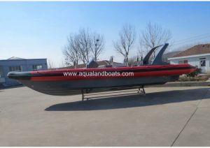 Сторожевой катер нервюры Aqualand 35feet 10.5m/воинская твердая раздувная шлюпка (RIB1050)