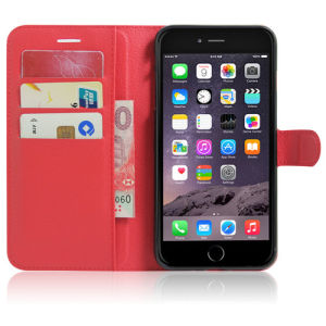 iPhone 7のための携帯電話のLichi PUの革箱
