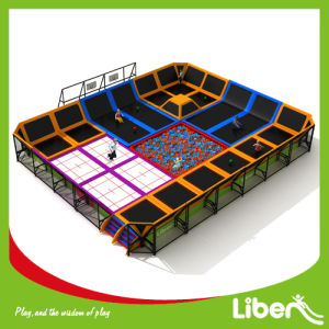 para la Venta Interior Corte de Trampolín con Baloncesto y Hoyo de la Espuma