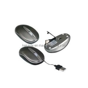 Ordinateur portable Mini souris optique USB avec cordon cachés escamotable (S-M099)