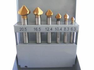 Broca de avellanar Set 6 Piezas Titanium-Coated