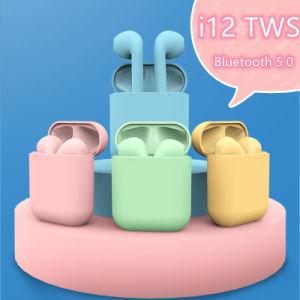 Inpods Macaron I12 auriculares auriculares Bluetooth inalámbrico de TWS Contacto Auriculares Pop-up