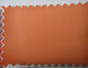Linha de Apoio de tecido de couro Nubuck castanho