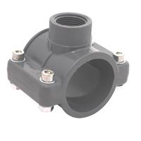 UPVC raccords de tuyauterie en plastique norme DIN PN10