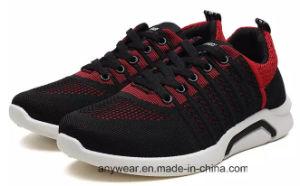 Nuevo diseño de calzado deportivo con Flyknit ejecuta la parte superior para hombres y mujeres zapatilla (336)