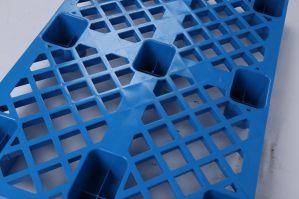 Rack de pavimento descoberto 1ton Euro palete de plástico de HDPE (1200x800mm)