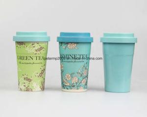 فنجان قابل للاستعمال تكرارا زاهية قابل للتفسّخ حيويّا خيزرانيّ لين [كفّ موغ]