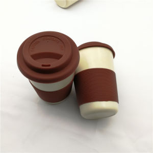 300ml健康のふたが付いている安全なタケコーヒーカップ