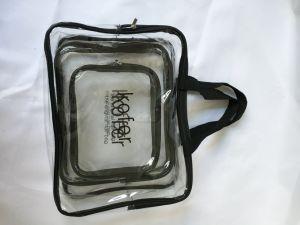 Zipper Pouch Portable Waterproof PVC Organizer Makeup Caseとの3パックClear Cosmetic Bag Tsa Air Travel Cosmetic Toiletry Bag Set