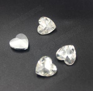 Cristallo delle pietre preziose 10mm del diamante del cuore - pietra in rilievo di immaginazione dei monili di colore libero