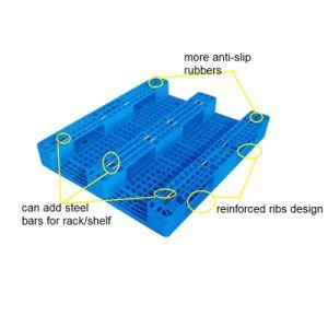 Reforço de aço alta carga de paletes de plástico, Virgem de HDPE ou PP paletes de plástico, 1100x1100mm