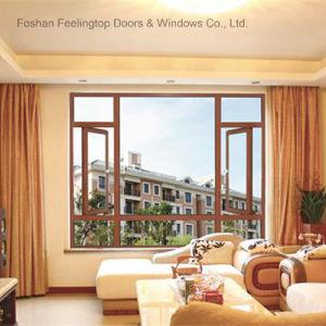 Stoffa per tendine di alluminio Windows di stanza frontale di negozio con vetro fisso (FT-W70)