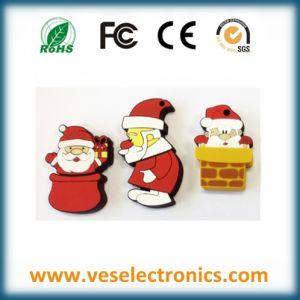 Санта Клаус ПВХ USB Flash накопитель поощрения флэш-памяти