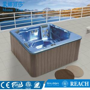 5 Pessoa banheira de hidromassagem em acrílico quadrado massagem SPA Tub (M-3327)