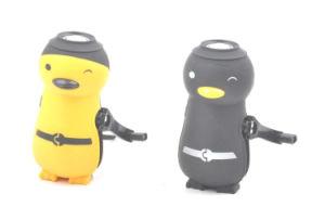 De pinguïn vormde 1 LEIDEN Super Helder Flitslicht van de Dynamo Handcrank