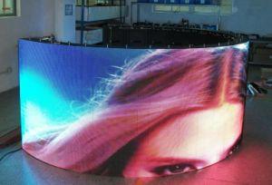 Visualizzazione di LED curva servizio anteriore esterno della pubblicità IP65 di P8 SMD