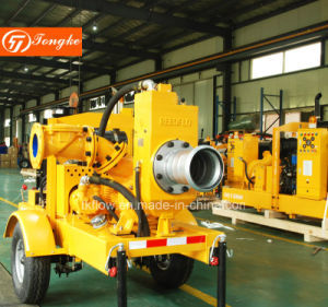 Montagem do Reboque do motor diesel da bomba de água de escorva automática