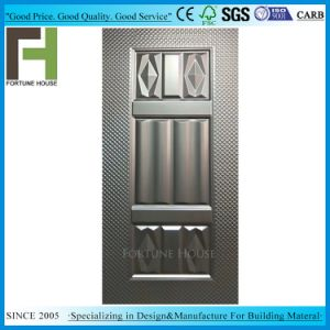 Grelha moldado em chapa de ferro galvanizado de grãos do painel de porta